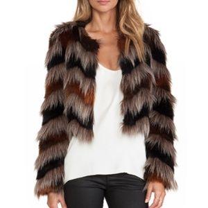 Faux Fur Coat Twelfth Street by Cynthia Vincent
